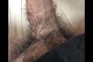 Gutsy exibindo a pica peluda e tocando uma