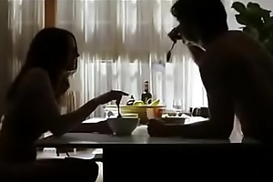 Mom increased by Son try sex in the kitchen table