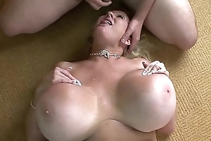 Mega Titted Cougar Bounces On Eternal Flannel