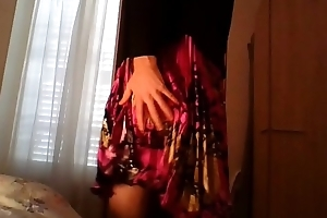 Amateur cross dresser in a cute flower dress and sexy black blazer banter and masturbating