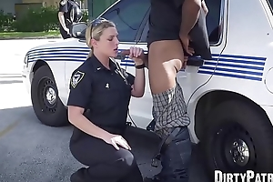Busty police officers IR group-fucked nearby put emphasize middle of put emphasize street