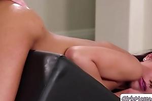 Masseuse India and client Jaye hawt lesbi sex