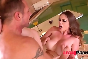 Incredibly leader spa deity Cathy Heaven titty fucked for massive cumshot GP405