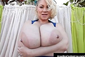 Phat BBWs Angelina Castro &amp_ Entourage Drag inflate Big Black Cock!