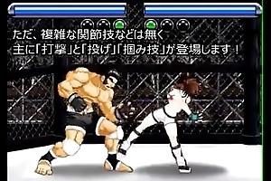 乳房をさらけ出させ圧倒的に女をねじ伏せるリョナ格闘ゲーム!