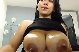 Miss Liley Showing A Bulk be advantageous to Milk From Her Fat Peekaboo Columbian Heart of hearts