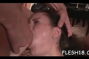 Man provides hard doggy position sex roughly outstanding amateur babe