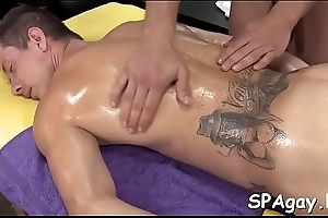 Dreadful anal rub-down for tired homosexual beam