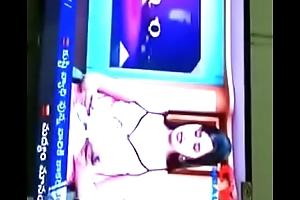 Swathi naidu watching her program anent day