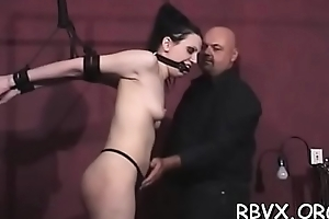Bosomy wholesale gets extremely slutty while being bounded tight