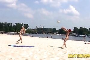 Loved Teen Nudists Beach Playtime