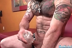 Down in the mouth dude with muscles jerks gone hard