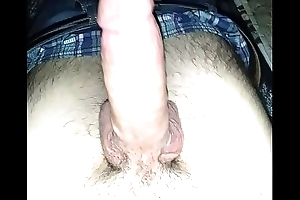 Stroking shine up to I cum