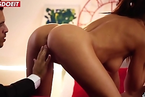 LETSDOEIT - Spanish Couple Seduces and Fucks Teen Babe in arms (Tina Kay &amp_ Sicilia Model)