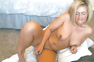 My best friends pierced blonde mother caught on web camera while masturbating