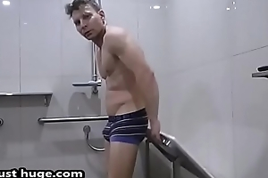 Footy Player - strips in briefs Flexing Bay Scope Video Fetish underwear - Zak Rogerz