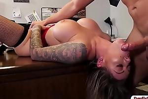 Shove around secretary rides her boss hard flannel
