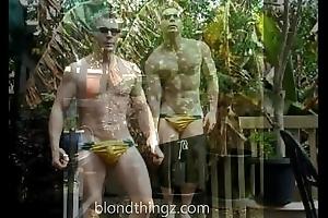 Speedo Fetish Nylon  Swimwear Bouncing Bulge Muscle Aussie Zak Rogerz