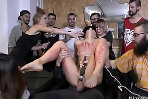 Naked slave fucking at hairdressers