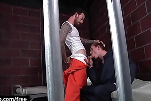 Rocko South with respect to Zane Anders at Barebacked In Prison Faithfulness 1 Scene 1 - Trailer private showing - Bromo