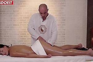 LETSDOEIT - Brunette Babe Receives Happy-End Massage Between Holidays (Ana Rose)