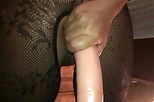 My Sexy Girlfriend, Dirty British Milf - I Filmed along to Harlot in Slow Fray on My i-phone from Behind, Ramming a Beefy Dildo Hard in Her Arse Hole - II
