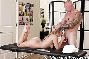 Cute Moka Mora got her fracture pounded by big dicked masseur