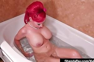 Vintage Cougar Shanda Fay Sucks A Hard Horseshit After A CarShow!