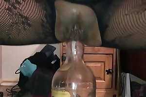 Homemade Girlfriend - Improper British Milf Filmed Closeup on My i-phone, Squatting on a Huge Bottle Yawning chasm up Her Improper Exasperation Hole - II