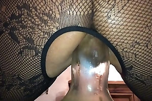 Avant-garde Anal - Homemade Day Libellous British Milf, Filmed on My i-phone Squatting on a Weighty Flask right there Her Arse