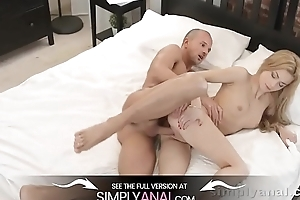 Russian blonde acquires ALL holes drilled at the end of one's tether day - Anal Sex
