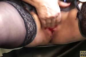 PASCALSSUBSLUTS - Choked granny Dirge gets rough anal sex