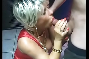 Grown-up Makes Handjob together with Blowjob at the Christmas Party