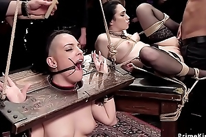 Gagged slut sellathon mouth banged