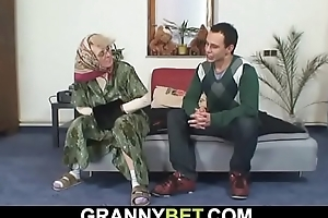 In the lurch old grandma sucks coupled with rides his blarney
