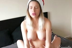 Mrs Santa gets her mince pie stuffed - Samantha Flair