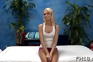 Charming babe gets a hard fuck after a sensual massage