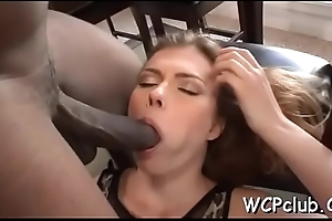 White slut is double permeated by hugecocked dark thugs