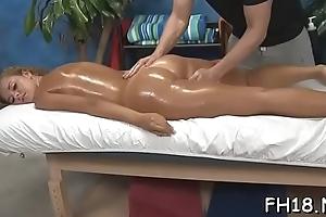 Gorgeous hottie gets a indestructible fuck after a carnal massage