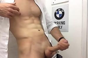 sexy man relating to uniform wank
