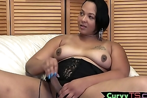 Hot ts girl shows gone say no to curvy body