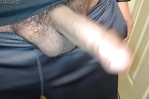 Me jerking my uncut Latin cock to nice jizz flow apropos a squirt of piss.