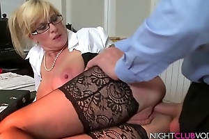 Big Boobs Blond MILF got screwed away from Outsider