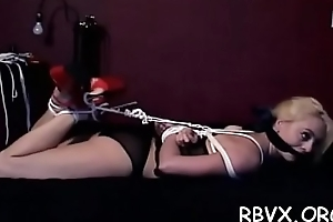 Ballgagged bitch gets stirred up whilst playing with herself