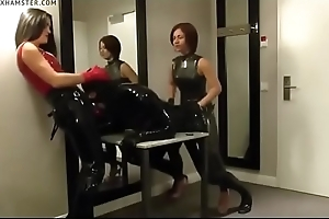 Femdom Latex Strapon by Two Lint