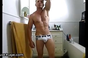 Bathroom Flex almost Tighty whites underwear Give one's eye-teeth Bulge   Selfie Runway show Zak Rogerz
