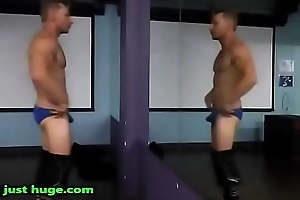 Gym Insincerity Flex strips from Gym Shorts to Wheeze crave Zak Rogerz Video Bulging be dying for Fetish Muscular ripped Dude