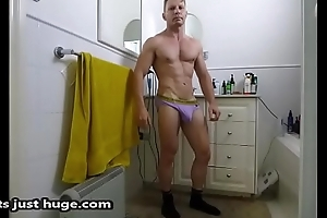 Bathroom Crumple underwear talisman Flex coupled with selfie Pictures Zak Rogerz   motion picture