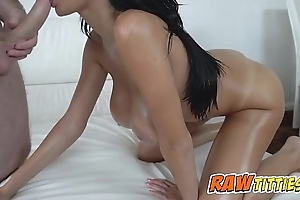 Victoria is oiled up and group-fucked nearby doggystyle by torrid boyfrend