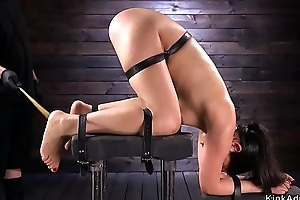 Goth beauty far device bondage acquires whipped